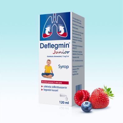Deflegmin Junior - syrop dla dzieci o smaku owocowym